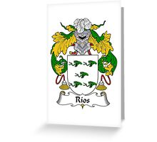 Rios Coat of Arms/Family Crest Greeting Card
