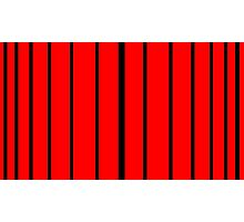 Thick To Thin Black - Red Lines Photographic Print