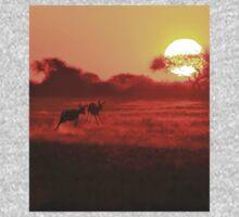 Springbok - African Wildlife Background - Magnificent Sun One Piece - Short Sleeve