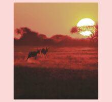 Springbok - African Wildlife Background - Magnificent Sun Kids Clothes