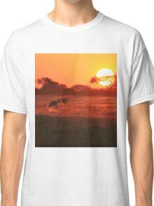 Springbok - African Wildlife Background - Magnificent Sun Classic T-Shirt