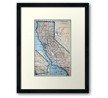 Vintage Map of California (1921) Framed Print
