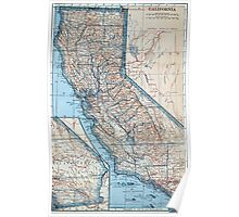 Vintage Map of California (1921) Poster