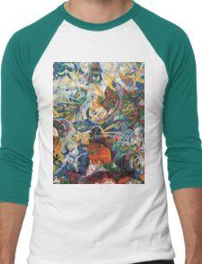 Abstract painting by Joseph Stella Men's Baseball ¾ T-Shirt