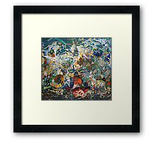 Abstract painting by Joseph Stella Framed Print