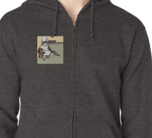 The Funny Fat Cat Zipped Hoodie