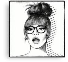 b//glasses Canvas Print