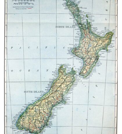 Vintage Map of New Zealand (1921) Sticker