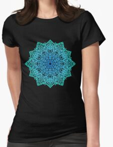 Mandala *green, blue & black* Womens Fitted T-Shirt