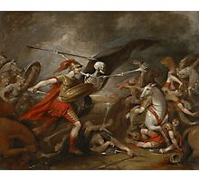 Joshua at the battle of Ai attended by Death by John Trunbul Photographic Print