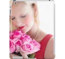 Beautiful Girl With Orchid Flowers iPad Case/Skin