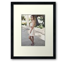 portrait of young attractive lady Framed Print