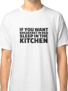 Breakfast Funny Joke Food Humor Random  Classic T-Shirt