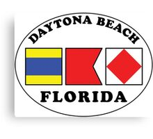 DAYTONA BEACH FLORIDA EURO OVAL NAUTICAL FLAG  Canvas Print