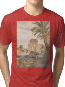 The Temple at Karnak Tri-blend T-Shirt