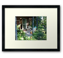 Garden Studio Entrance Framed Print
