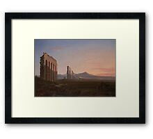 View of the Roman Campagna by Benjamin Champney Framed Print