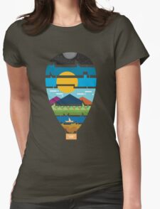 can you see the earth? Womens Fitted T-Shirt
