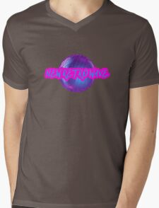 New Retro Wave Synthwave 80s Music Cool Neon Awesome Mens V-Neck T-Shirt