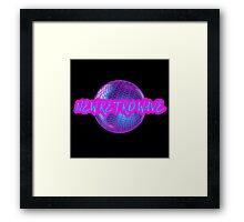 New Retro Wave Synthwave 80s Music Cool Neon Awesome Framed Print