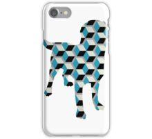 Geometric Blocks Dog iPhone Case/Skin