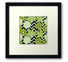 pattern with green fruits Framed Print