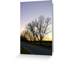 Sunset behind Trees Greeting Card