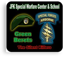 JFK Special Warfare & School Canvas Print