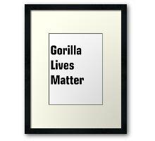 Gorilla Lives Matter Framed Print
