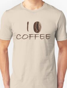 I Love Coffee Sign Coffee Seed Unisex T-Shirt