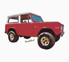 Ford Bronco Classic from VivaChas Hot Rod Art One Piece - Short Sleeve