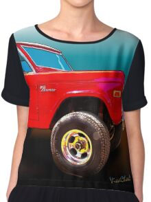 Ford Bronco Classic from VivaChas Hot Rod Art Chiffon Top