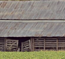 Old Country Barn in Country Field Sticker
