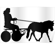 Driving Silhouette Poster