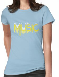 Music Soundwave Womens Fitted T-Shirt