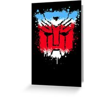 Autobots splash out Greeting Card