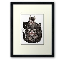 Poncho Monster Framed Print