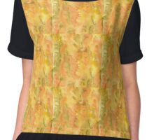 Autumn watercolor background Chiffon Top