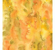 Autumn watercolor background Photographic Print