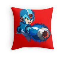 Megaman (Rockman) Splash Paint Design Throw Pillow