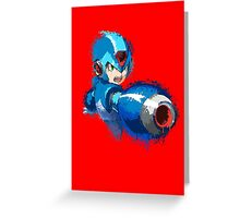 Megaman (Rockman) Splash Paint Design Greeting Card