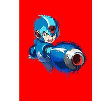 Megaman (Rockman) Splash Paint Design Photographic Print