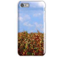 Corn Field with Clouds iPhone Case/Skin