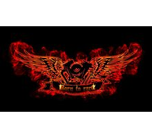 Motor with wings at the flame Photographic Print