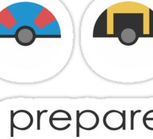 Pokemon Pokeball Be Prepared Sticker