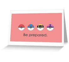Pokemon Pokeball Be Prepared Greeting Card