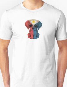 Cute Patriotic Filipino Flag Puppy Dog T-Shirt