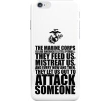 The Marine Corps text based t shirt iPhone Case/Skin