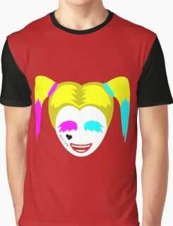 Harley Quinn Face Graphic Graphic T-Shirt