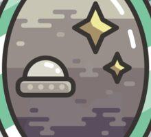 Space mirror Sticker